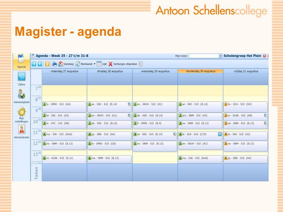 Magister - agenda