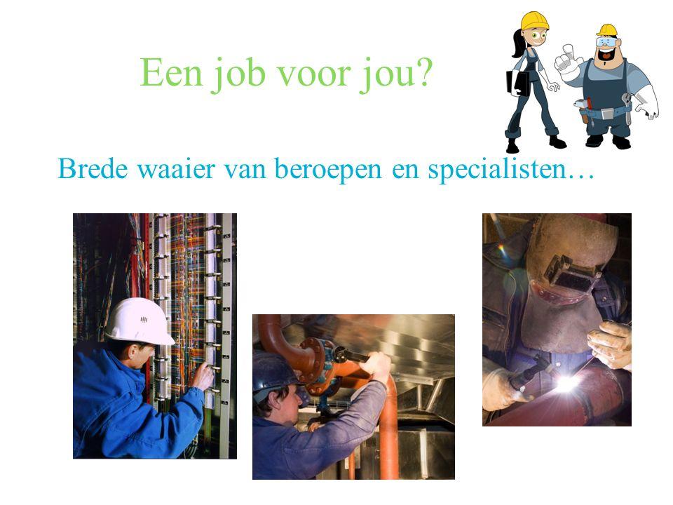 Een job voor jou Brede waaier van beroepen en specialisten…