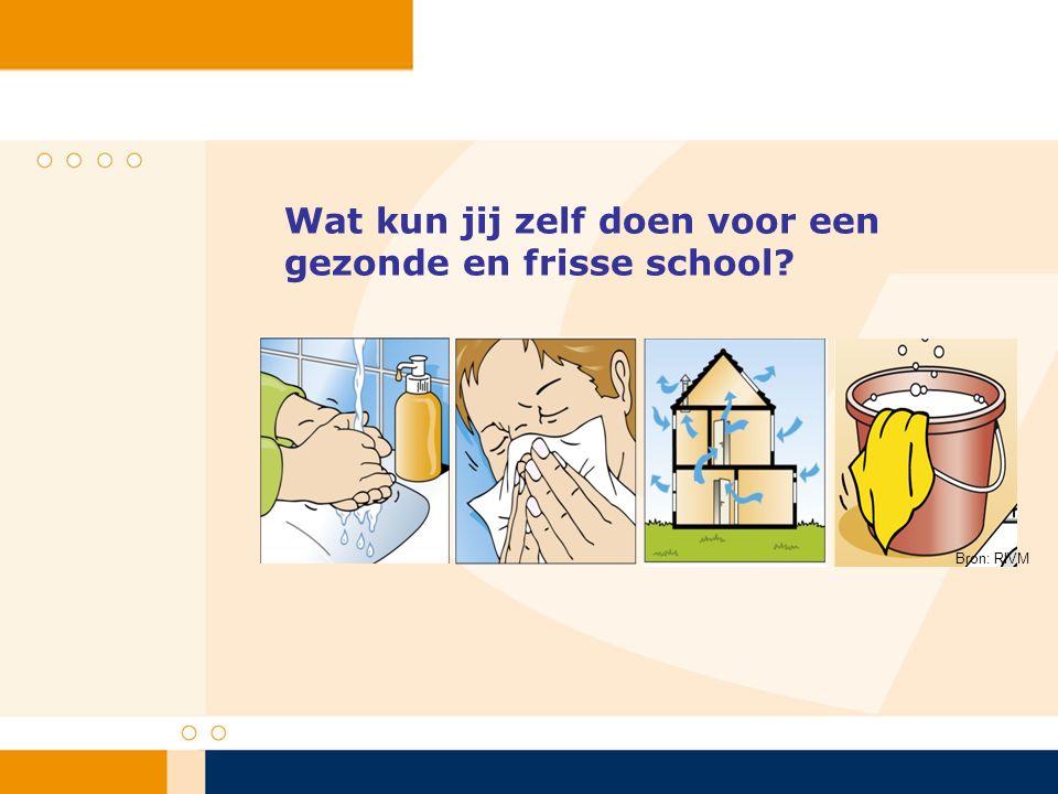 Wat kun jij zelf doen voor een gezonde en frisse school? Bron: RIVM