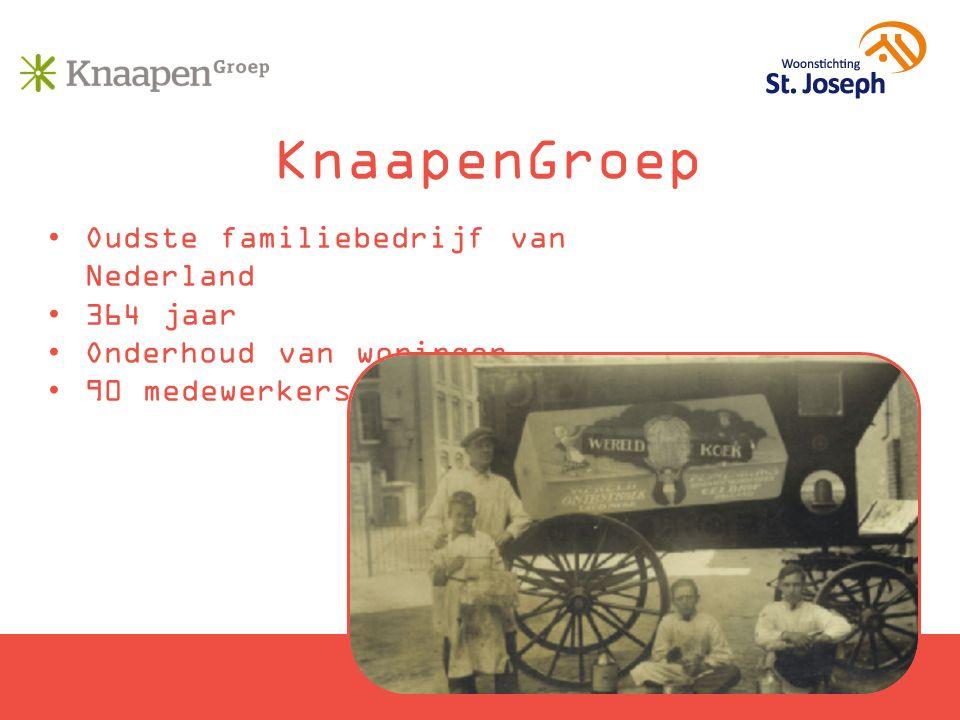 KnaapenGroep Oudste familiebedrijf van Nederland 364 jaar Onderhoud van woningen 90 medewerkers