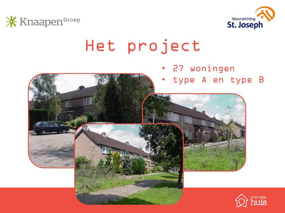 Het project 27 woningen type A en type B