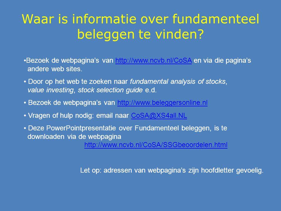 Waar is informatie over fundamenteel beleggen te vinden.