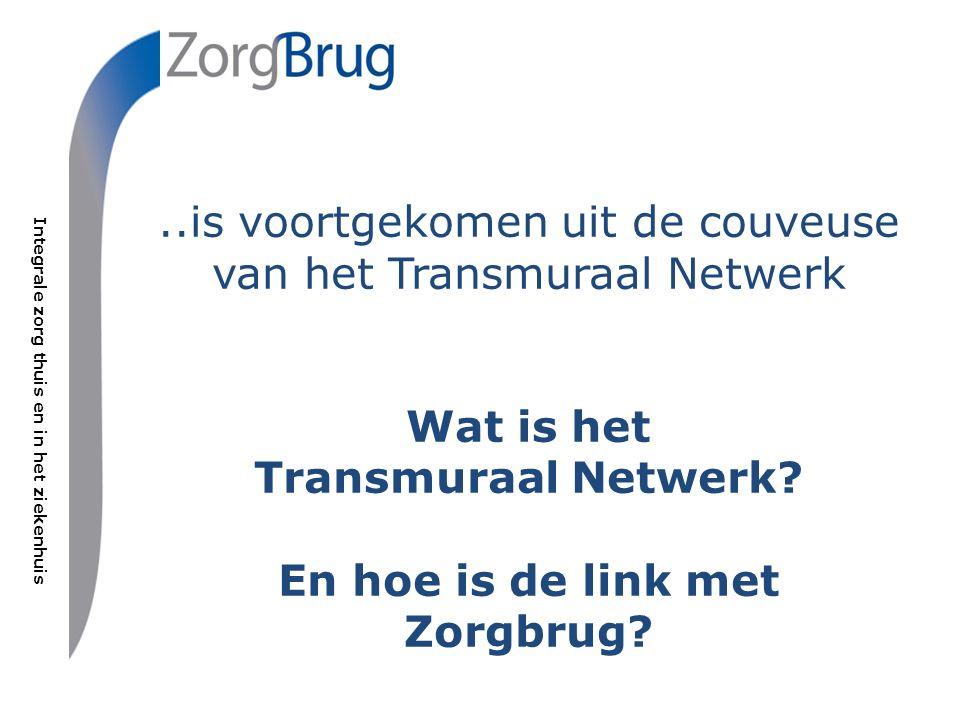 Integrale zorg thuis en in het ziekenhuis Het Transmuraal Netwerk is een samenwerkingsverband van: Groene Hart Ziekenhuis Vereniging Medisch Specialisten GHZ Regionale Organisatie Huisartsen Midden-Holland Vierstroomzorgring (thuiszorg en zorgcentra) Gemiva SVG Groep (gehandicaptenzorg) Zorgpartners Midden-Holland (zorgcentra) GGZ Midden-Holland (geestelijke gezondheidszorg) UVIT/Trias Zorgverzekeraar (geen stichtingspartner)