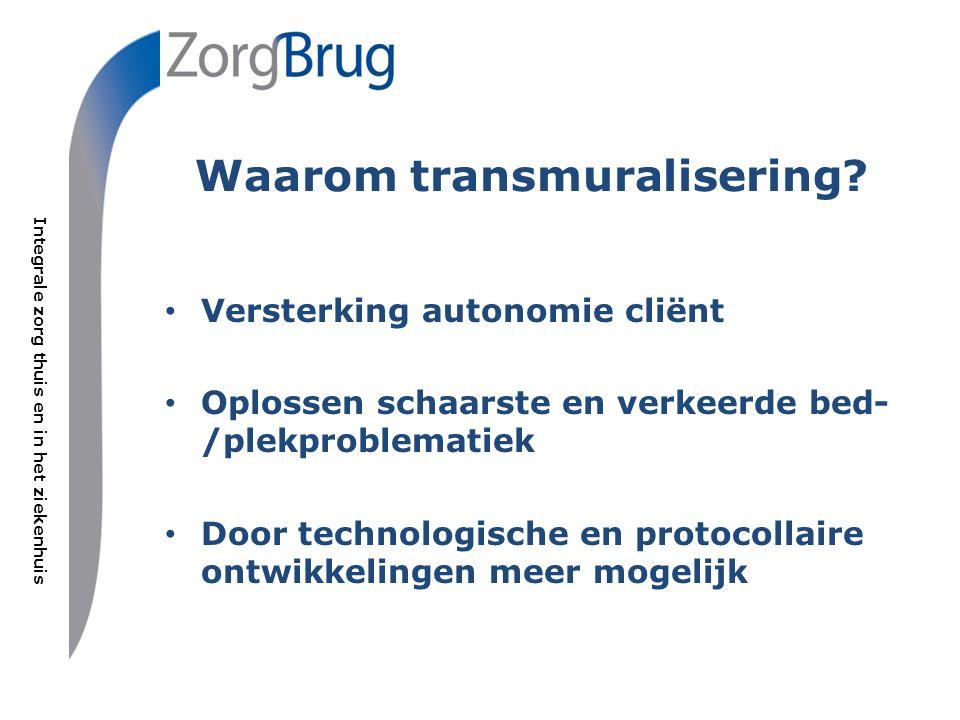Integrale zorg thuis en in het ziekenhuis Zelf-management bevrijdt Zorgbrug verbindt.