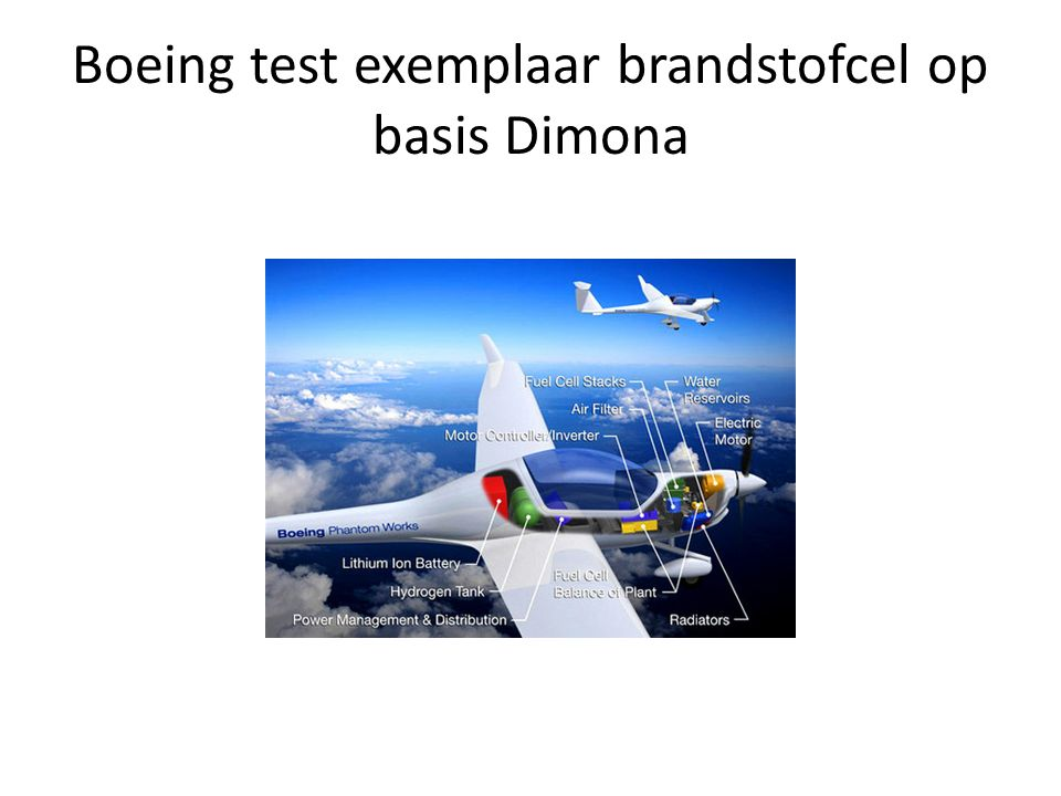 Boeing test exemplaar brandstofcel op basis Dimona