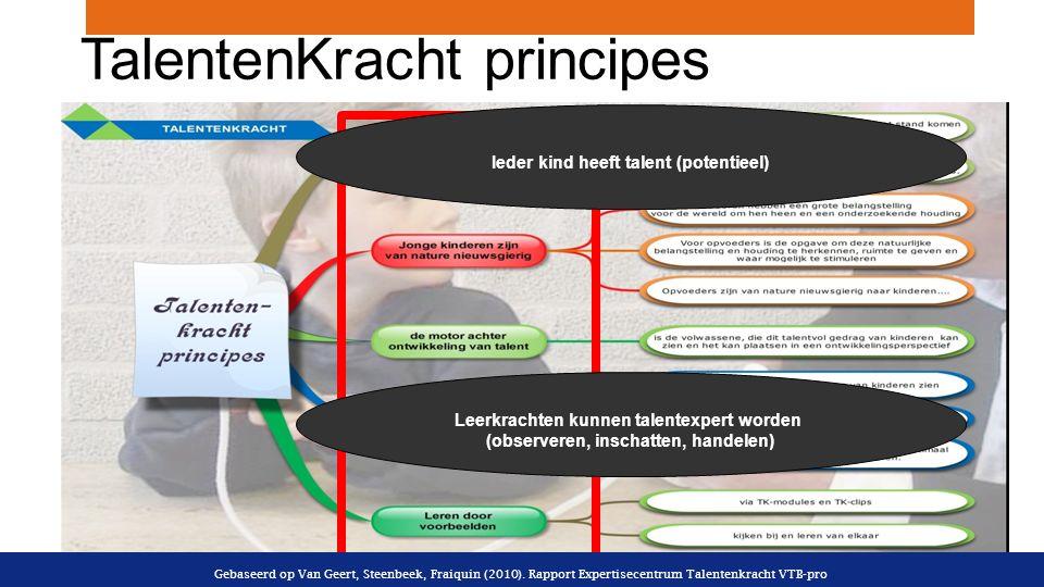 TalentenKracht principes Gebaseerd op Van Geert, Steenbeek, Fraiquin (2010).