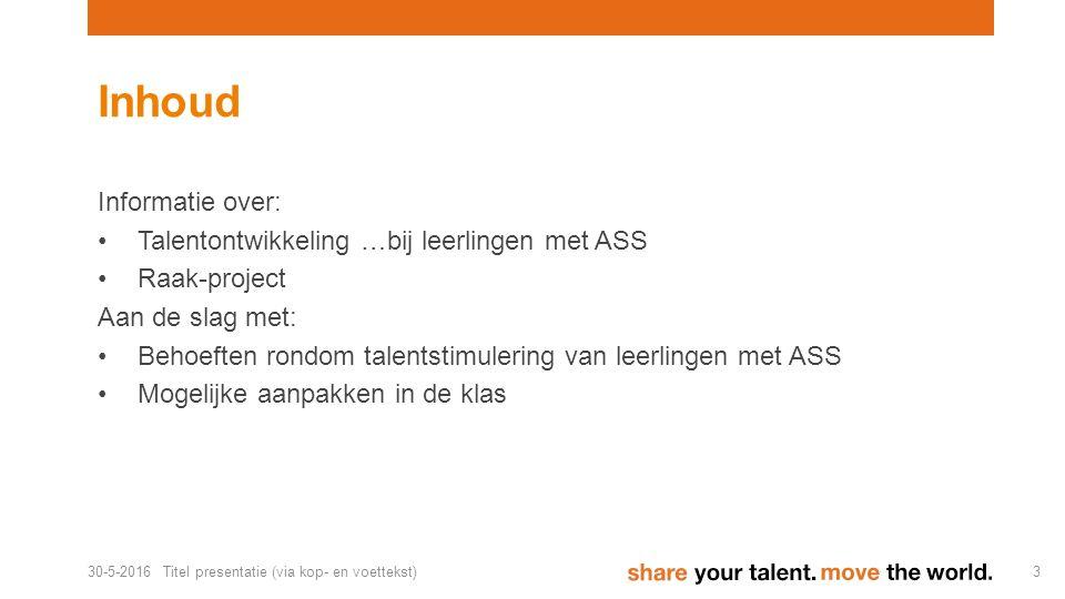 Wat is talent?