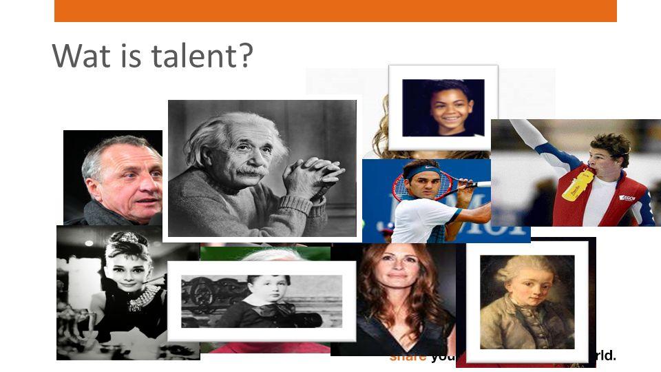 Herkennen van talent..