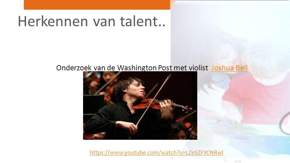Dus.. Herkennen van talent