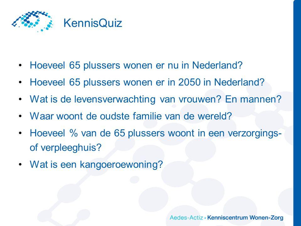 KennisQuiz Hoeveel 65 plussers wonen er nu in Nederland.