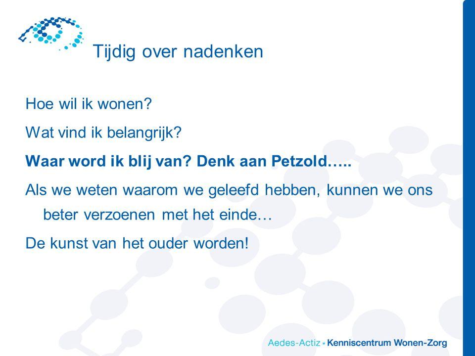 Healthy and active ageing….. Oud worden? Begin er jong mee!