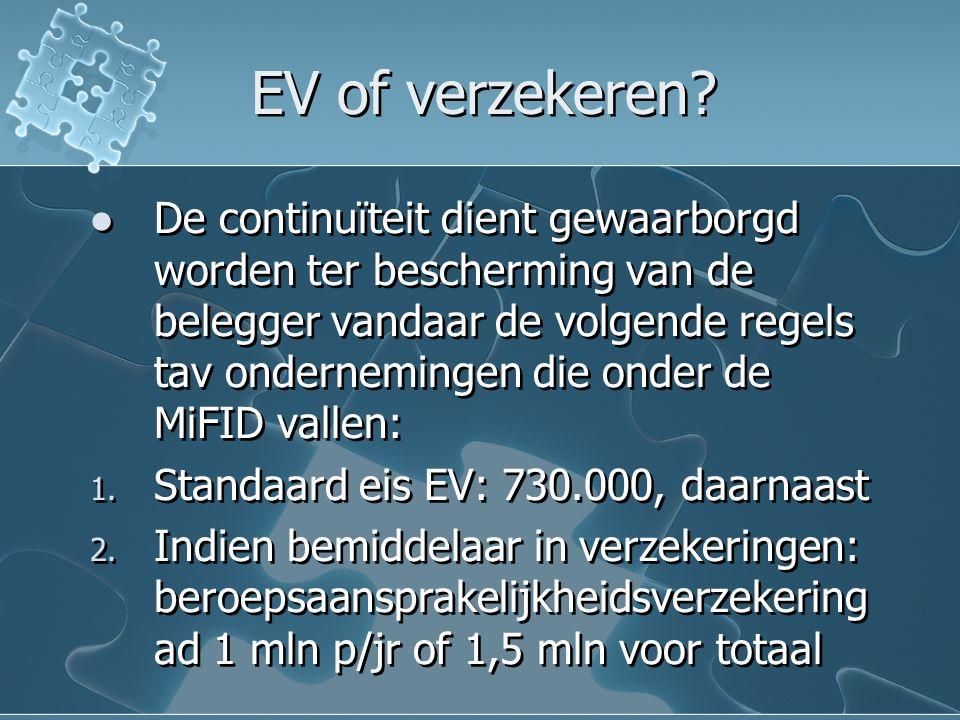 EV of verzekeren.