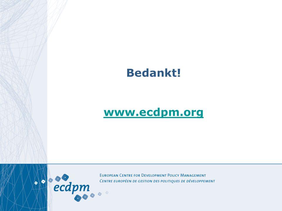 Bedankt! www.ecdpm.org www.ecdpm.org