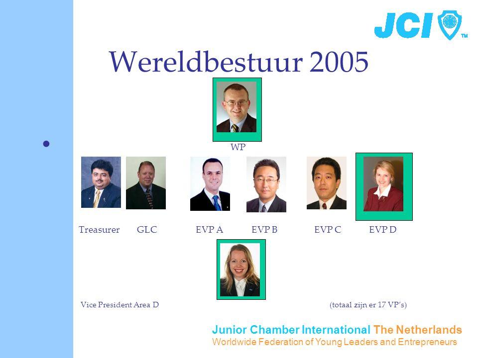 Junior Chamber International The Netherlands Worldwide Federation of Young Leaders and Entrepreneurs Wereldbestuur 2005 WP Treasurer GLC EVP A EVP B E