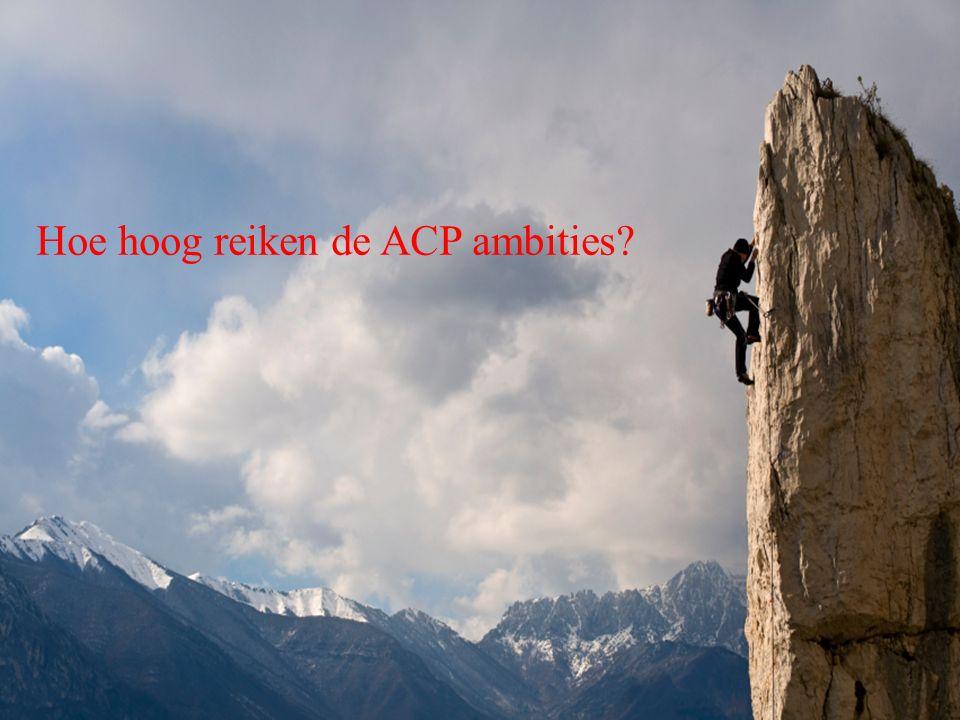Hoe hoog reiken de ACP ambities?
