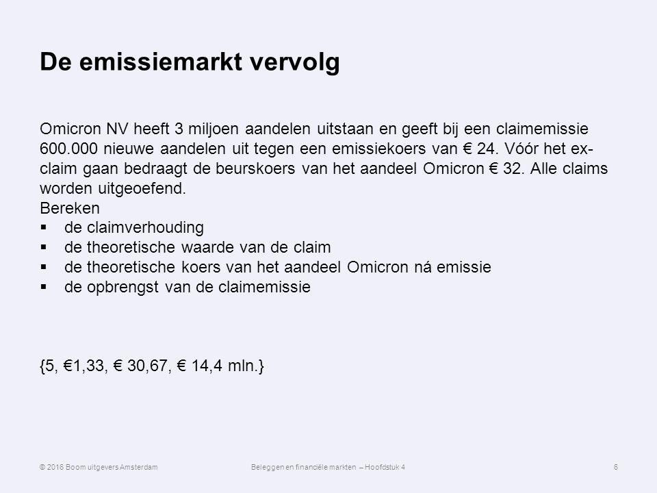 De emissiemarkt vervolg Omicron NV heeft 3 miljoen aandelen uitstaan en geeft bij een claimemissie 600.000 nieuwe aandelen uit tegen een emissiekoers