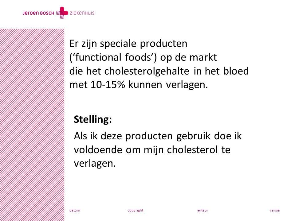 datumcopyrightauteurversie Stelling: Als ik deze producten gebruik doe ik voldoende om mijn cholesterol te verlagen.