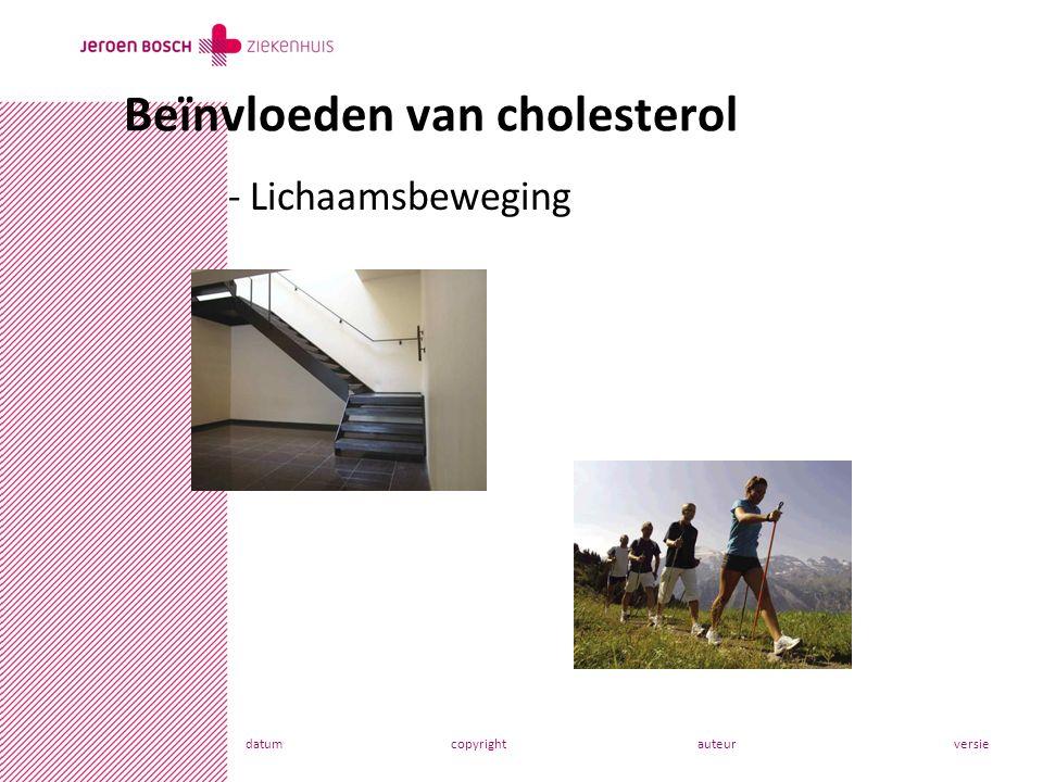 datumcopyrightauteurversie - Lichaamsbeweging Beïnvloeden van cholesterol