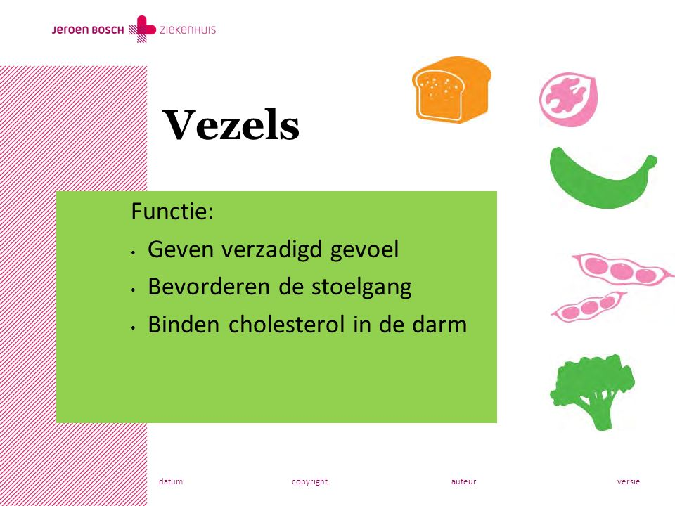 datumcopyrightauteurversie Functie: Geven verzadigd gevoel Bevorderen de stoelgang Binden cholesterol in de darm Vezels