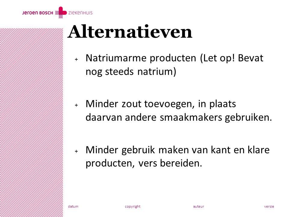 datumcopyrightauteurversie + Natriumarme producten (Let op.