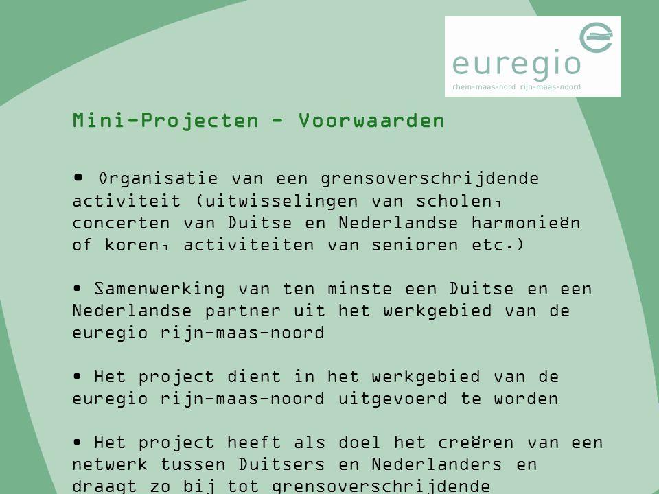 Organisatie van een grensoverschrijdende activiteit (uitwisselingen van scholen, concerten van Duitse en Nederlandse harmonieën of koren, activiteiten