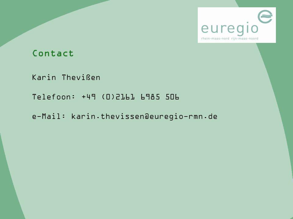 Karin Thevißen Telefoon: +49 (0)2161 6985 506 e-Mail: karin.thevissen@euregio-rmn.de Contact