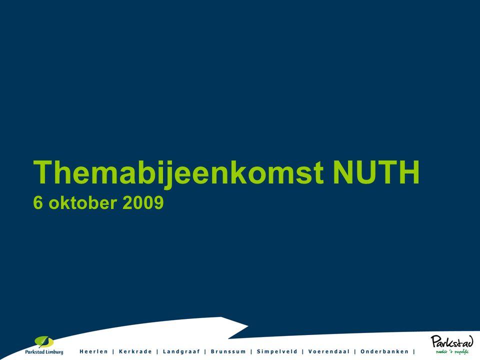 Themabijeenkomst NUTH 6 oktober 2009
