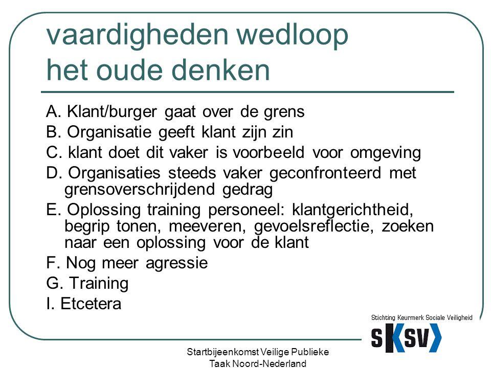 Melden?? Startbijeenkomst Veilige Publieke Taak Noord-Nederland