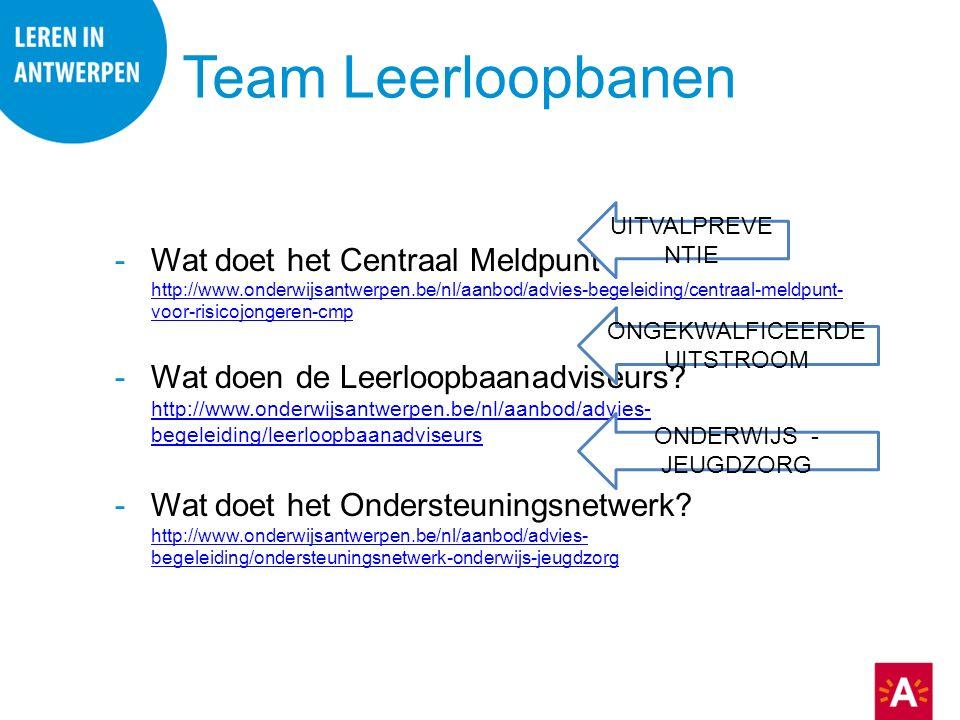 Team Leerloopbanen -Wat doet het Centraal Meldpunt.