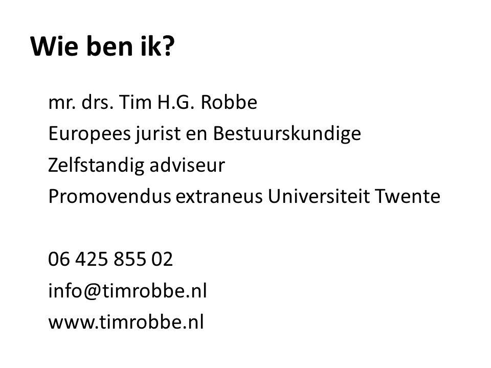 Wie ben ik.mr. drs. Tim H.G.