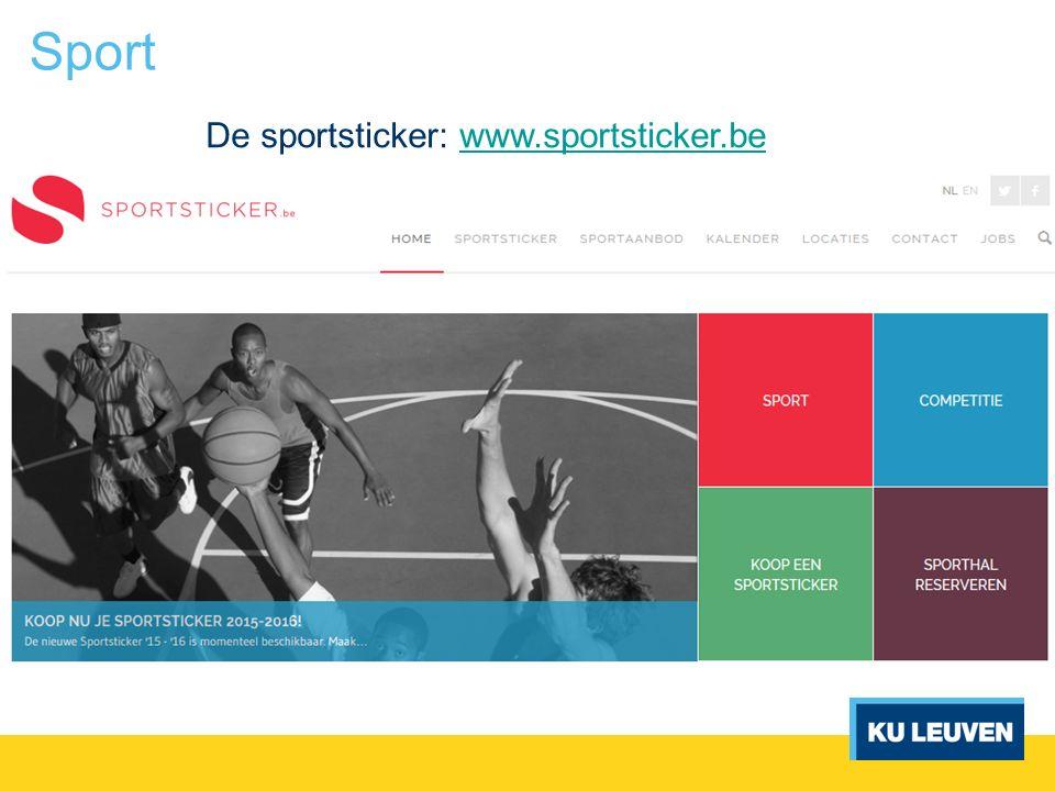 Sport De sportsticker: www.sportsticker.bewww.sportsticker.be