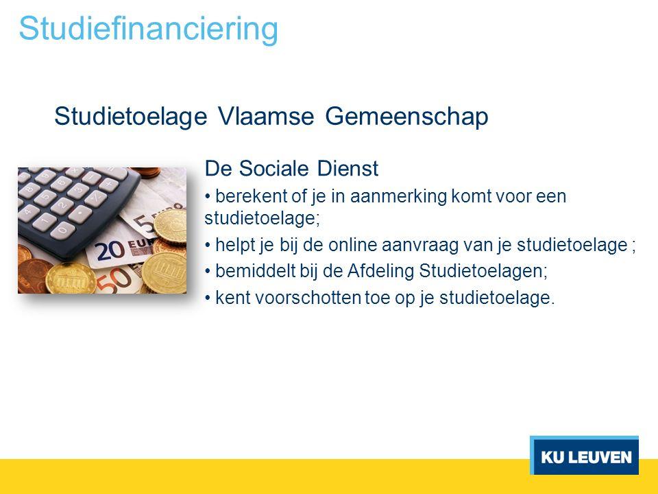 Studietoelage Vlaamse Gemeenschap Studiefinanciering De Sociale Dienst berekent of je in aanmerking komt voor een studietoelage; helpt je bij de onlin