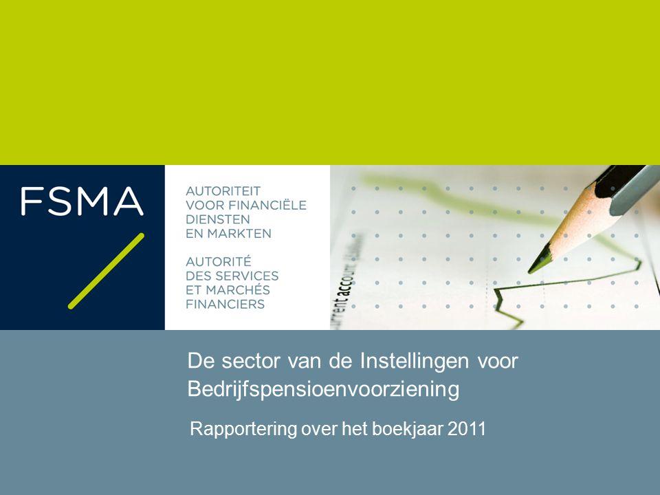 De sector van de Instellingen voor Bedrijfspensioenvoorziening - Boekjaar 2011 Executive summary 2 27 september 2012Rapportering over het boekjaar 2011