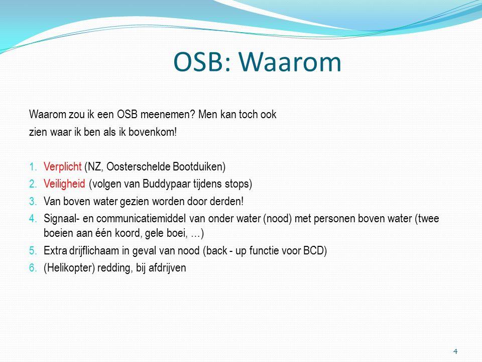 OSB: Waarom Waarom zou ik een OSB meenemen.Men kan toch ook zien waar ik ben als ik bovenkom.