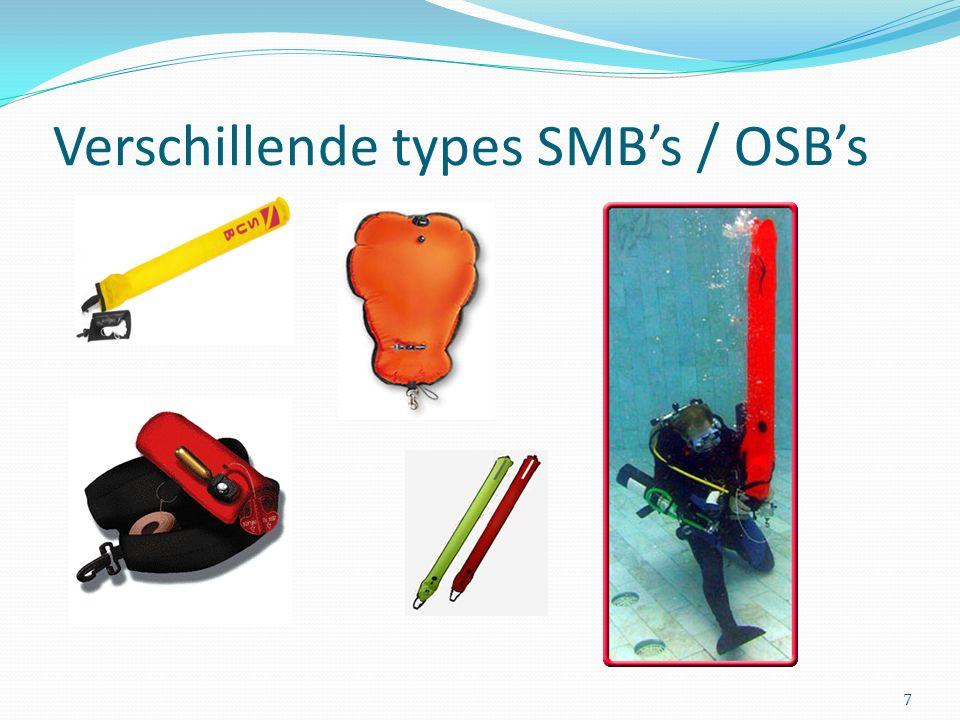 Verschillende types SMB's / OSB's 7