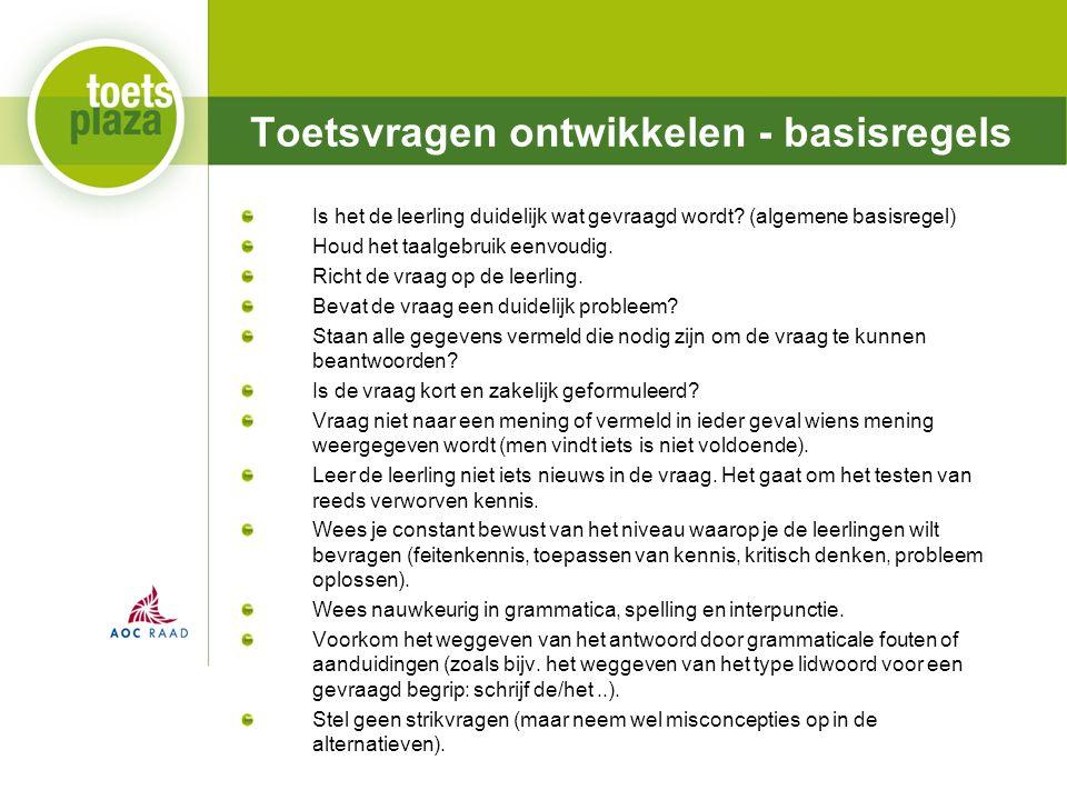 Expertiseteam Toetsenbank Is het de leerling duidelijk wat gevraagd wordt.