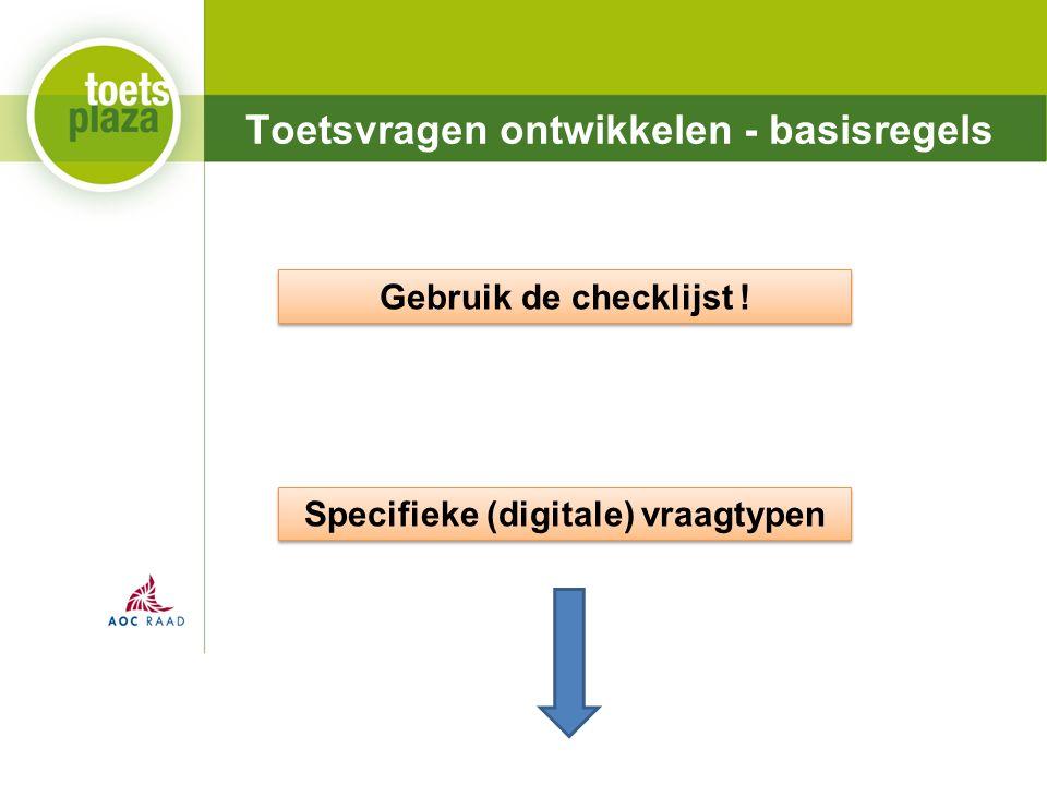 Expertiseteam Toetsenbank Toetsvragen ontwikkelen - basisregels Gebruik de checklijst .