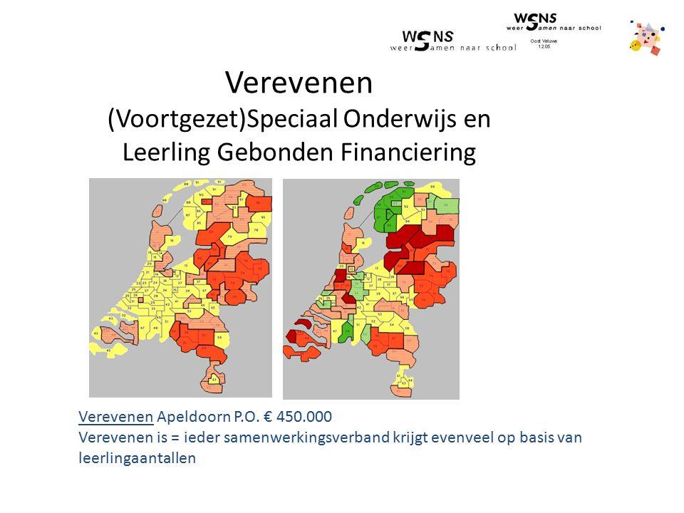 Verevenen (Voortgezet)Speciaal Onderwijs en Leerling Gebonden Financiering deelname groei Verevenen Apeldoorn P.O. € 450.000 Verevenen is = ieder same