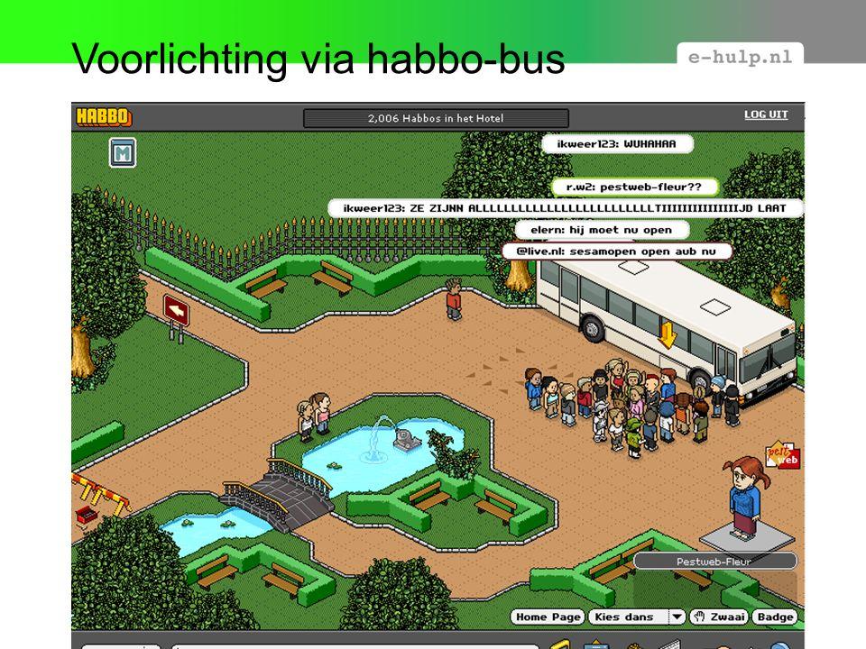 Voorlichting via habbo-bus