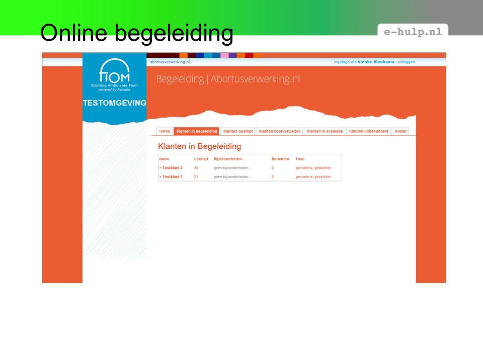 Online begeleiding