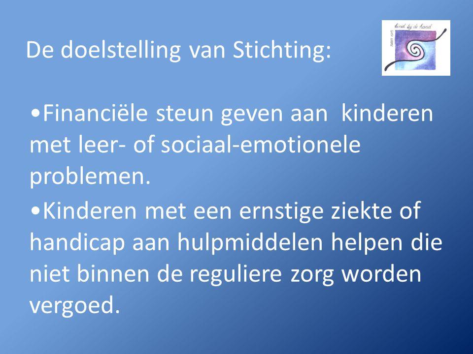 Financiële steun geven aan kinderen met leer- of sociaal-emotionele problemen.