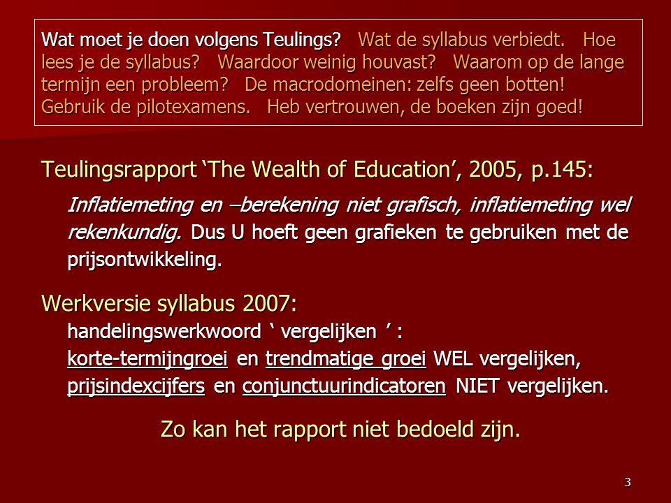 3 Wat moet je doen volgens Teulings. Wat de syllabus verbiedt.