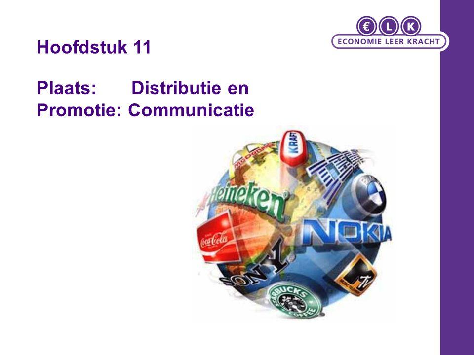 Plaats: Distributie en Promotie: Communicatie Hoofdstuk 11
