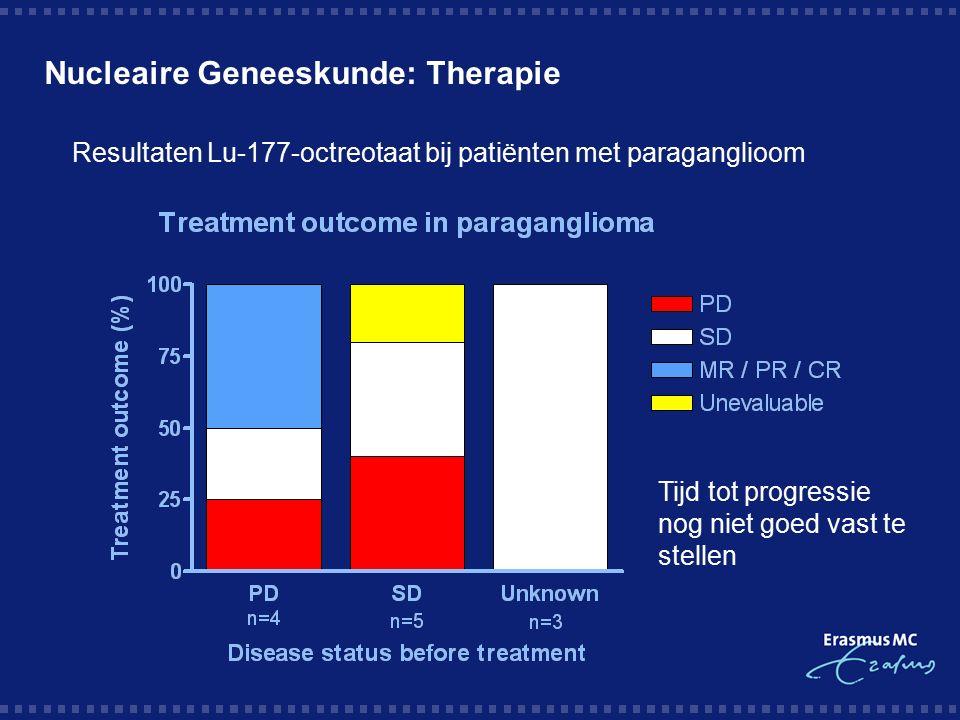 Nucleaire Geneeskunde: Therapie Tijd tot progressie nog niet goed vast te stellen