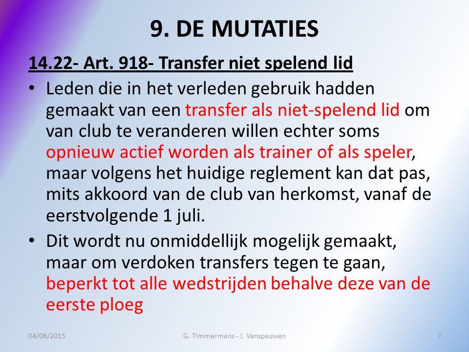 9. DE MUTATIES 14.22- Art.