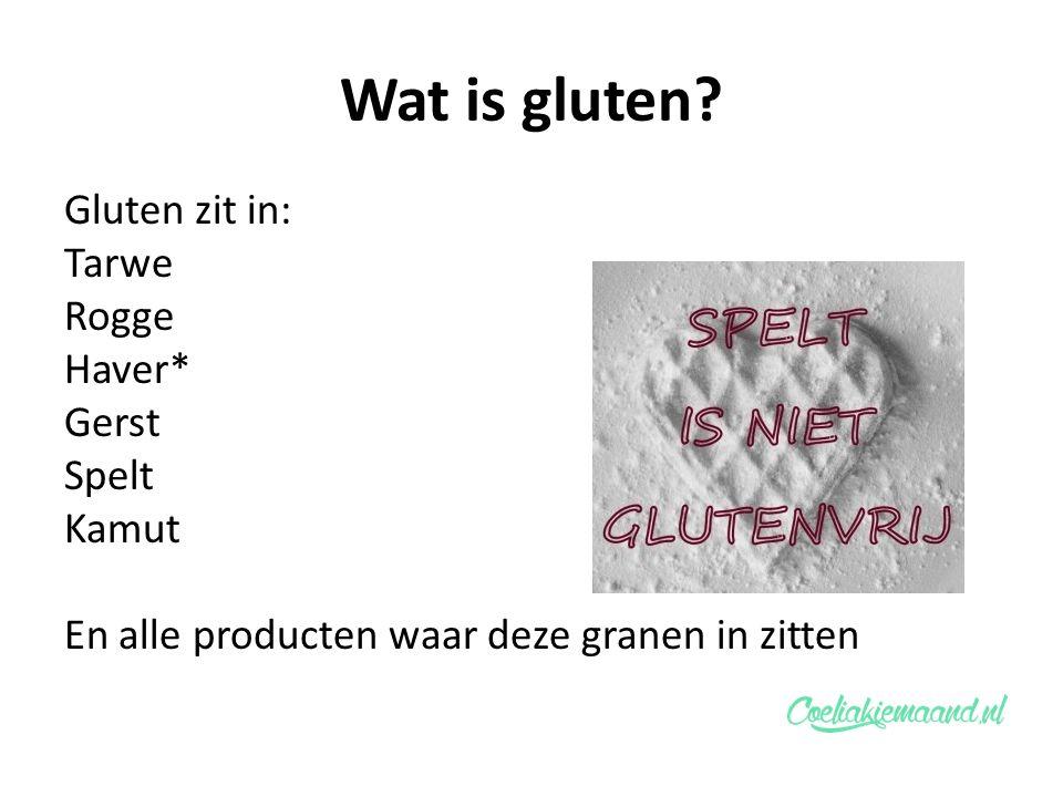 Wat is gluten.