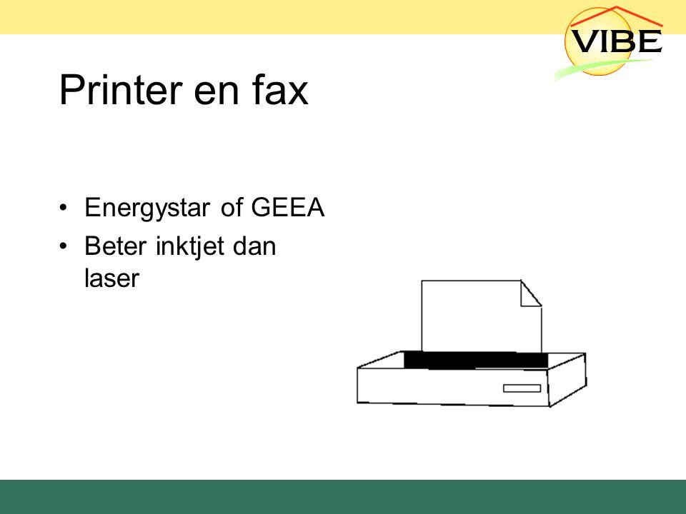 Printer en fax Energystar of GEEA Beter inktjet dan laser