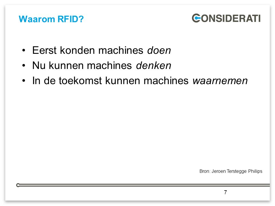 7 Waarom RFID.