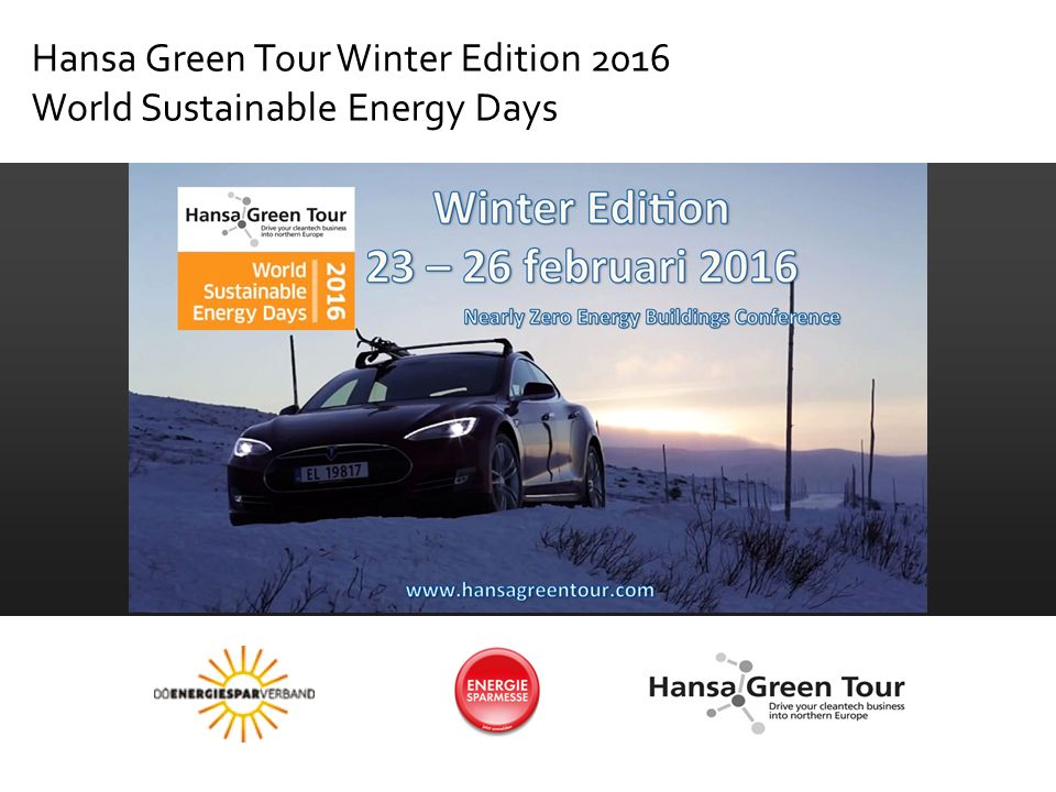 Hansa Green Tour Winter Edition 2016 World Sustainable Energy Days