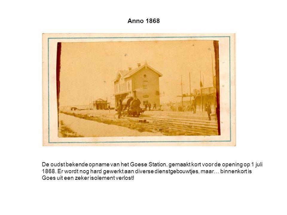 Anno 1868 De oudst bekende opname van het Goese Station, gemaakt kort voor de opening op 1 juli 1868.